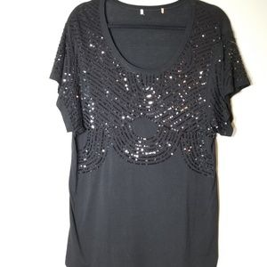 Tops - Gorgeous Black Sequin Tank Top